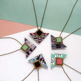 Mica Peet Geometric Triangle And Square Necklace Jewellery