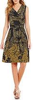 Tommy Bahama Fronds Falling V-Neck Sleeveless Printed Wrap Dress