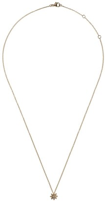 David Yurman 18kt yellow gold Starburst diamond 8mm pendant necklace