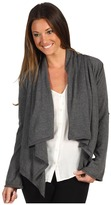 Autumn Cashmere Tab Sleeve Drape Front Cardigan (Bankers Grey) - Apparel