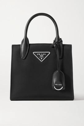 Prada Tessuto Vitalo Leather-trimmed Nylon Tote - Black
