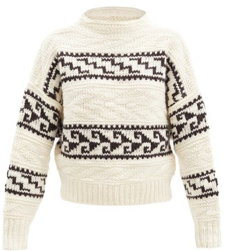 Etoile Isabel Marant Suri Patterned Wool-blend Sweater - Ivory Multi