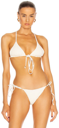 PALM Kya Bikini Top in Smocked Ivory | FWRD