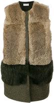 Kiltie panelled gilet coat