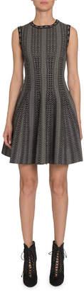 Alaia Dot-Print Fit-&-Flare Dress