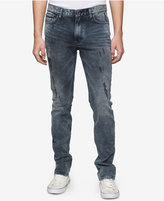 Calvin Klein Jeans Men's Slim-Fit Bruised Indigo Ripped Jeans