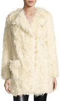 Zadig & Voltaire Vialo Faux-Fur Coat, Beige