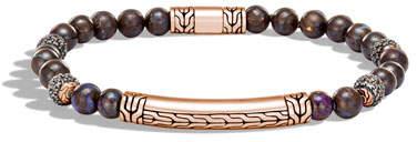 John Hardy Men's Classic Chain Quartz and Opal Bracelet in Bronze