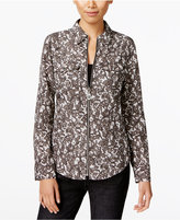 MICHAEL Michael Kors Lace Zip-Up Shirt