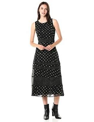 Taylor Dresses Women's Sleeveless Abstract Print Midi Dress