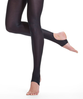 Danskin Black Ultra-Shimmery Stirrup Dance Tights - Women