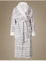 M&S Collection ShimmersoftTM Borg Trim Dressing Gown