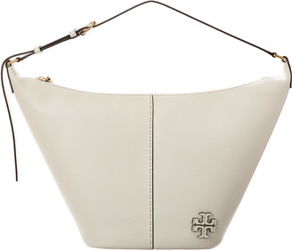 Tory Burch Mcgraw Zip Leather Bucket Bag