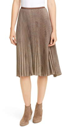 Polo Ralph Lauren Rese Pleated Plaid Skirt