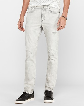 Express Slim Gray Wash Hyper Stretch Jeans