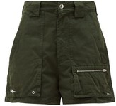 Phipps - Holocene Garment-dyed Cotton-twill Cargo Shorts - Womens - Dark Green