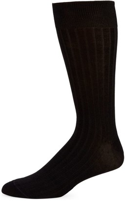 Saks Fifth Avenue COLLECTION Basic Rib-Knit Crew Socks