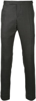 Thom Browne Low Rise Skinny Side Tab Trouser In Super 120s Twill