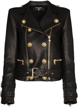 Balmain Double-Breasted Biker Jacket