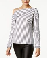 Bar III Striped One-Shoulder Top, Created for Macy's