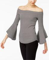 Karen Kane Bell-Sleeve Off-The-Shoulder Top
