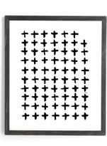 DENY Designs Plus White Framed Wall Art