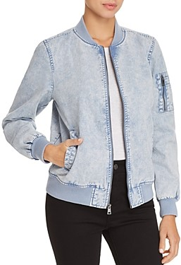 Levi's Acid Wash Denim Bomber Jacket