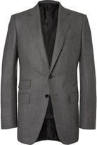 Tom Ford - Grey O'connor Slim-fit Birdseye Wool And Silk-blend Flannel Suit Jacket
