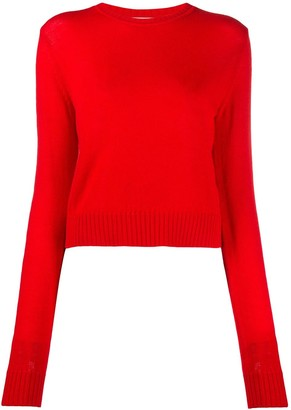 Jil Sander Crew-Neck Long Sleeved Knitted Top