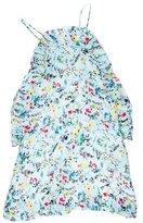 MSGM Pleat-Trimmed Floral Dress