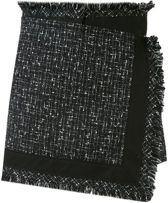 Sacai Frayed-Edged Wrap Mini Skirt