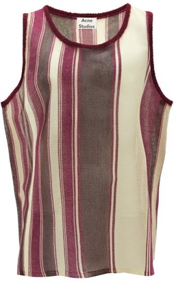 Acne Studios Striped Wool-blend Tank Top - Mens - Purple Multi