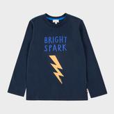 Paul Smith Boys' 7+ Years Navy Bright Spark Print 'Mikko' Top