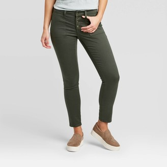 Universal Thread Women's Mid-Rise Skinny Jeans - Universal ThreadTM Olive