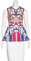 Clover Canyon Neoprene Floral Print Top