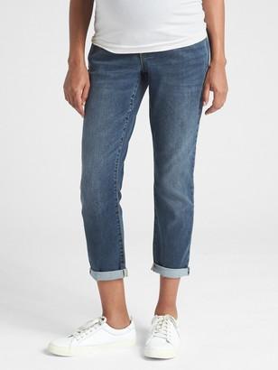 Gap Maternity Soft Wear Full Panel Girlfriend Jeans