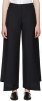 Acne Studios Navy Wool Haddie Trousers