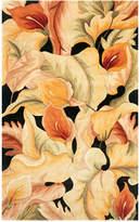 "Kas Catalina 759 Black Calla Lilies 30"" x 50"" Area Rug"
