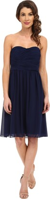 Donna Morgan Women's Sarah Short Strapless Sweatheart Neckline Dress