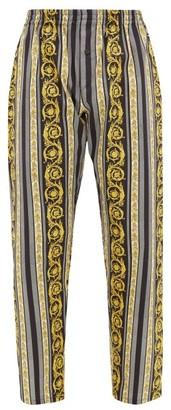Versace Baroque-print Cotton Pyjama Trousers - Black Multi