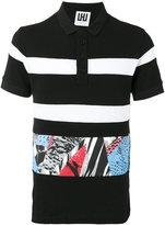 Les Hommes printed trim polo shirt