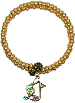 Anne Koplik Swarovski Crystal Music Note Beaded Wrap Bracelet