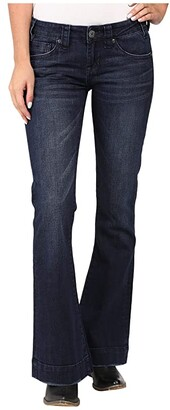 Rock and Roll Cowgirl Trousers Low Rise in Dark Wash W8-8486 (Dark Wash) Women's Jeans