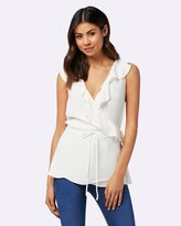 Forever New Jessie Frill Sleeve Wrap Blouse
