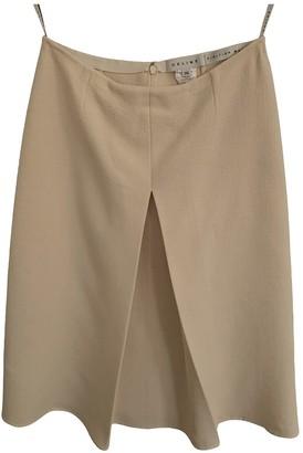 Celine White Wool Skirt for Women Vintage
