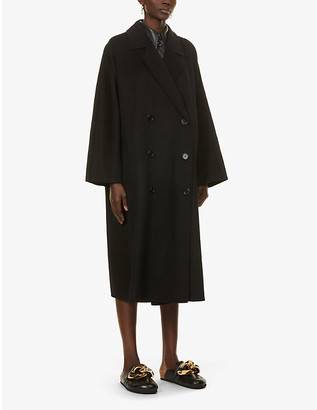 Stand Mikaela double-breasted wool-blend coat