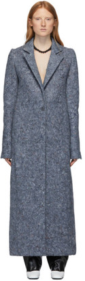 Marina Moscone Blue U-Haul Blanket Coat