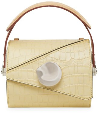 Danse Lente Extra-Small Jorja Croc-Embossed Leather Barrel Bag