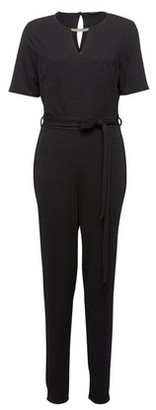 Dorothy Perkins Womens Black Gold Bar Keyhole Jumpsuit, Black