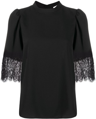 See by Chloe Short-Sleeved Lace Cuff Blouse